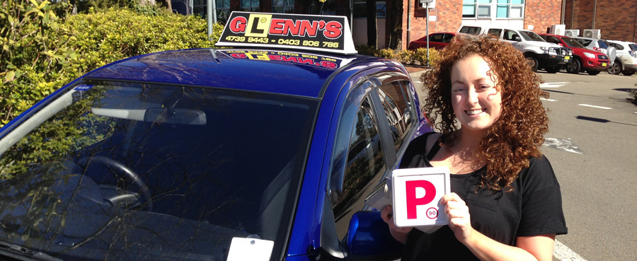 Glenn's student Dani with her new P-plates!